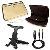 vg Irista ECOレザーキャリースリーブfor HP Pro Tablet 610g110.1インチビジネスタブレット+ヘッドレストマウント+補助ケーブル 10.1-inch マルチカラー AD_RDYLEA596DAT151HOL012_E01