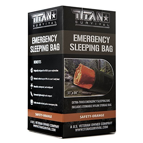 Titan Emergency Sleeping Bag/Thermal Bivy | Safety-Orange | PE,36