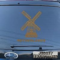 3s MOTORLINEオランダHolland WindmillデカールステッカーオランダNetherlandish車ビニールPickサイズカラー 24'' (61.0cm) ブラック 20180410s11