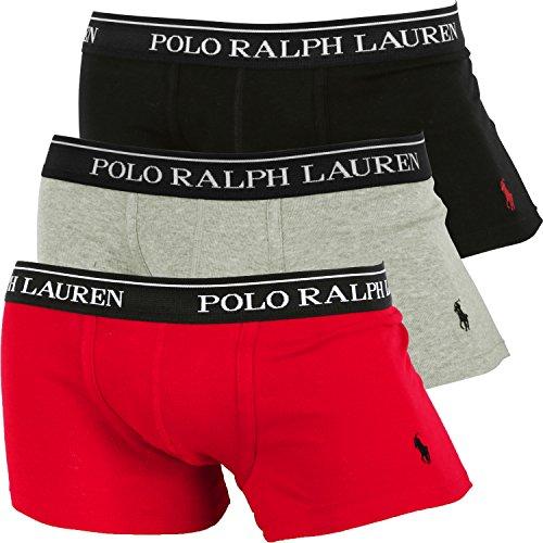(ポロラルフローレン) POLO RALPH LAUREN ローライズ ボクサーパンツ メンズ【3枚組セット】CLASSIC FIT COTTON TRUNKS [並行輸入品]