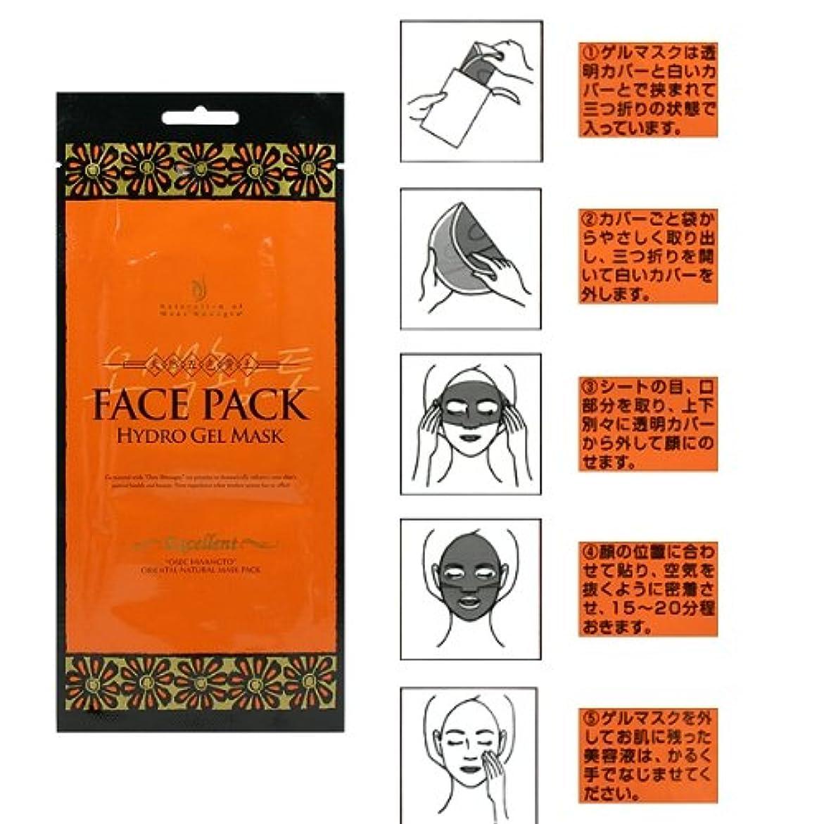 鉄道駅前置詞練習したプエラス 五色黄土ハイドロゲルマスク (フェイスパック)30gx1枚