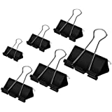 Assorted Binder Clips 100 Pack - Coofficer Paper Binder Clips for Notes Letter Paper Paper Clamps Binder Clamps for Office Su