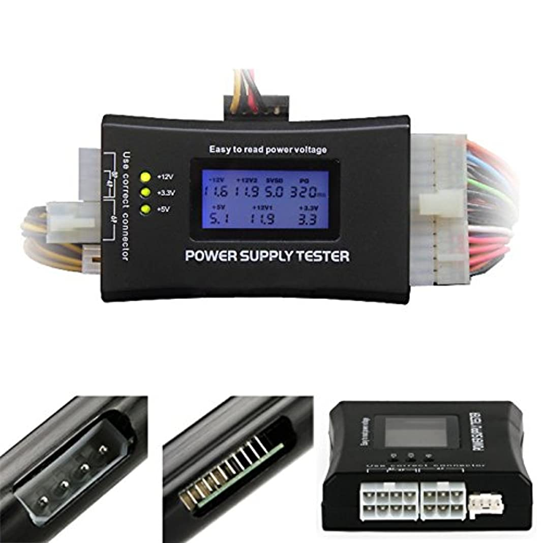 定義不振のりPURPLE 7  パソコン電源テスター PC電源用電圧チェッカー PCI-EXPRESS / S-ATA 対応 Power Supply Tester Ⅳ