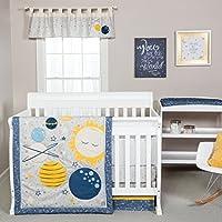 Trend Lab Galaxy 3 Piece Crib Bedding Set, Blue/Gray/Yellow [並行輸入品]