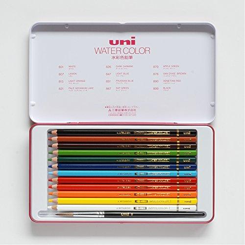 三菱鉛筆 ユニウォーターカラー水彩色鉛筆 12色セット