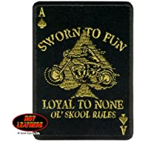 """Hot Leathers, LOYAL TO NONE, Premium Quality Iron-On / Saw-On, Heat Sealed Backing Rayon PATCH - 3"""" x 4"""""""