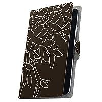 タブレット 手帳型 タブレットケース タブレットカバー カバー レザー ケース 手帳タイプ フリップ ダイアリー 二つ折り 革 花 黒 001256 01 KYT31 kyocera 京セラ Qua tab キュア タブ 01KYT31 quatab01-001256-tb