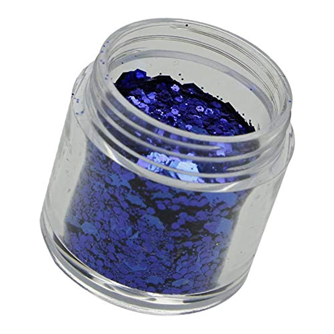 式同封する寸前Perfeclan ネイルグリッター ジェルグリッター ラメグリッター スパンコール キラキラ アイメイク 道具 全12色 - ロイヤルブルー