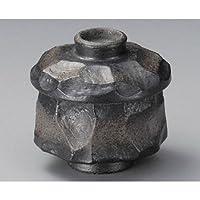 岩肌(黒)むし碗[ 80 x 84mm ]【 むし碗 】【 料亭 旅館 和食器 飲食店 業務用 】