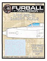 fur480581: 48Furball Aeroデザインmig-21FishbedキャノピーSeals ( for use with the Eduardキット) [ Waterslideデカールシート]