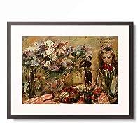 ロヴィス・コリント Lovis Corinth 「Blumen und Tochter Wilhelmine」 額装アート作品