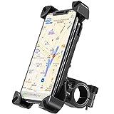 自転車 スマホ ホルダー amxus オートバイ バイク スマートフォン 振れ止め 脱落防止 バイク スマホ ホルダー 防水 装着簡単 360度回転 4-6.5インチのスマホに対応 iPhoneX XS 8 7 6Plus xperia HUAWEI Androi GPSナビ等多機種対応