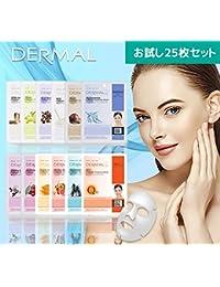 【DERMAL】ダーマル シートマスク 売れ筋 ベストセラー 25枚 お試しセット 保湿 フェイスマスク フェイスパック マスクパック 韓国コスメ (メール便)