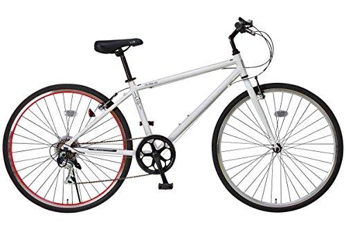 LIG(リグ)700Cシマノ6段変速アルミ製クロスバイク[サムシフト/Vブレーキ/ベル標準装備] CR-7006 LIG ホワイト