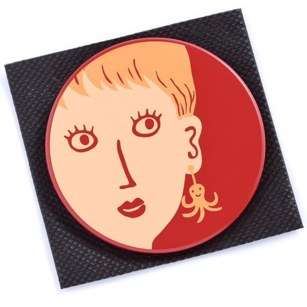 までアラームために[マタノアツコ] 【 アツコマタノ 】 丸鏡 耳にタコ レッド