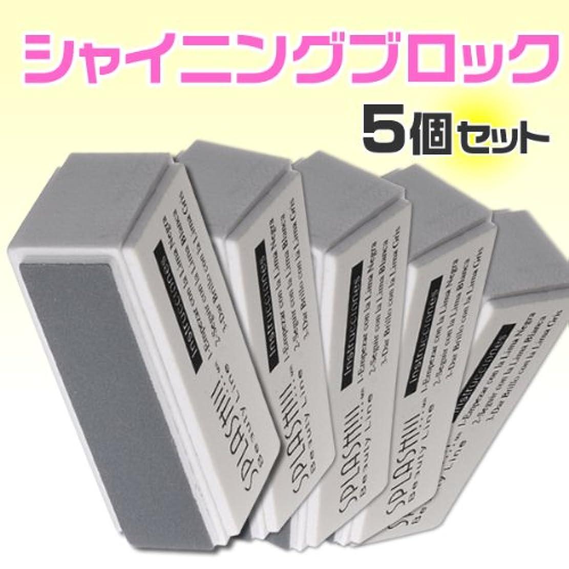 知性慣れるピットクリスタルネイル同等 ネイルバッファーブロックファイルネイルファイル5個セット 爪磨き爪やすり