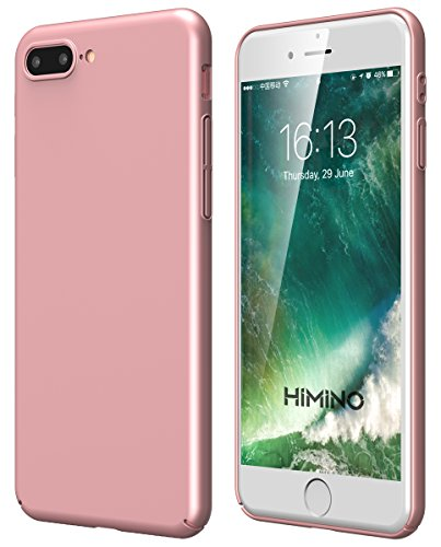 iPhone8 /iPhone7 plus ケース Himino ウルトラスリム 全面保護 ミニマリストのカバー 指紋防止 艶消しの硬いケース アイフォン8/7プラス ケース (iPhone 8/ 7 plus, ローズゴールド)