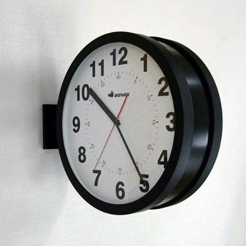DOUBLE FACES WALL CLOCK (ブラック)
