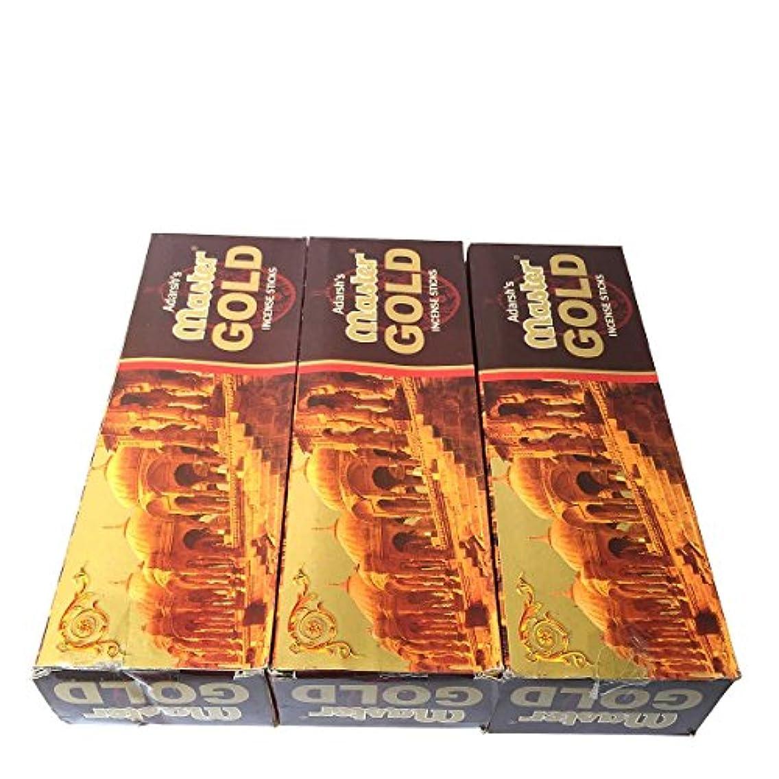 タイヤピンデイジーマスターゴールド香スティック 3BOX(18箱) /ADARSH AROMATICS  MASTER GOLD/インセンス/インド香 お香 [並行輸入品]