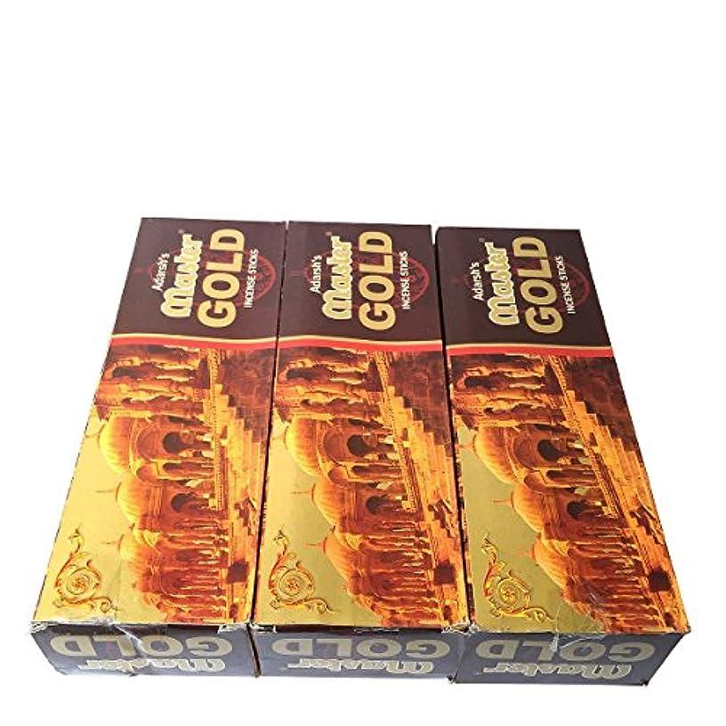 空港説教血統マスターゴールド香スティック 3BOX(18箱) /ADARSH AROMATICS  MASTER GOLD/インセンス/インド香 お香 [並行輸入品]