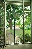 DeroTeno マグネット付き簡単網戸 (玄関用・外開きドア用) 取り付けが超簡単。爽やかな風を取り込んで、蚊などの虫をシャットアウト。 (90cm×210cm)