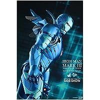 ホットトイズ アイアンマン ムービー・マスターピース DIECAST 1/6スケールフィギュア アイアンマン・マーク3(ブルー・ステルス版)