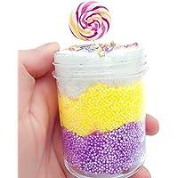 Hisoul スライムトイ トリコロール ロリポップ マッドミキシングクラウド スライム パテ 香り付き ストレスクレイ おもちゃ 子供の記念品 ギフト 誕生日 35866d