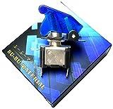 ぶーぶーマテリアル ミサイルスイッチ 青 ブルー ON /OFF LED トグル式 電装 3極タイプ 【カーパーツ】