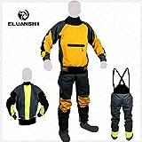 黄色 Lサイズ ドライスーツ ツーピース ヨットウェア セーリング、カヤック、フィッシング、ラフティング