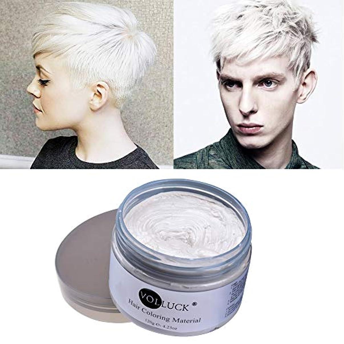 VOLLUCK ヘアカラーワックス たっぷり120g (ホワイト)Hair color Wax ビーズワックス他ナチュラル成分【並行輸入品】