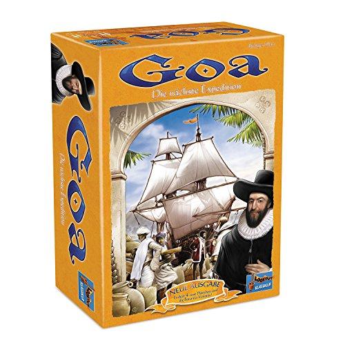 Goa: Strategiespiel. Aufbruch zu den Gewürzinseln! Welcher der zwei bis vier Spieler ist am geschicktesten im Handel mit den Kolonien?