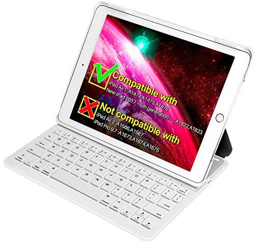 Inateck iPad Air 1/ iPad (第 5 世代)専用 キーボードカバー グレー