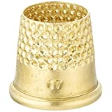 Lacis RQ62 17MM Open Top Tailor's Thimble, 17mm, Brown by Lacis