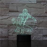 RTYHI スパイダーマン スパイダーマン モデル玩具 3D ナイトランプ タッチ/リモートコントロール付き LEDライト キッズホビー TFGLKLTYGH-5432293