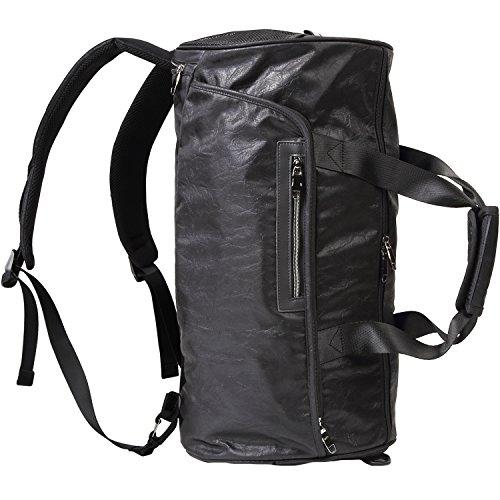 [CARADONA] ボストンバッグ シューズ収納 大容量 スポーツ ジムバッグ 3way リュック型 軽量 ブラック