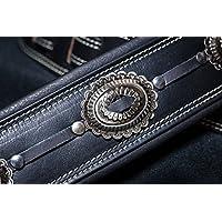 Springbreak 7cm width Black Custom Conchos Nickel