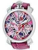 [ガガミラノ]GaGa MILANO 腕時計 マニュアーレ48mm マルチカラー文字盤  カーフ革ベルト 手巻き スイス製 5010MOSAICO2S メンズ 【並行輸入品】