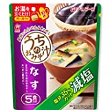 アマノフーズ フリーズドライ味噌汁 減塩 うちのおみそ汁 なす50食 (5食入X10セット) (即席 インスタント みそ汁)