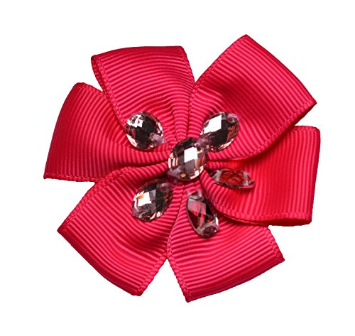 Ribbon Flower Shocking Pink
