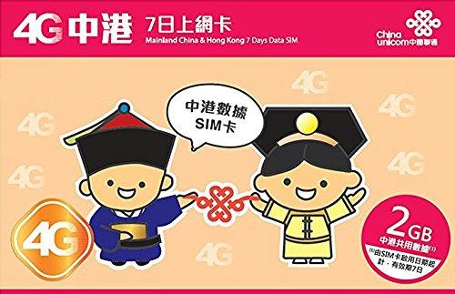 お急ぎ便 4G高速データ通信 容量2GB 中国本土31省と香港で7日利用可能 プリペイドSIM