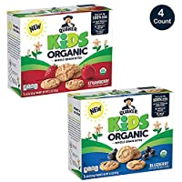 Quaker Kids Organic オーガニック Whole Grain Bites, 2 Flavor Variety Pack, 4 boxes, 20 Count
