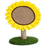 Lemonda Sunflower Cat Activity Tree Tower,Cat Scratching Post,Cat Claw Scratcher Board with Sisal Rope