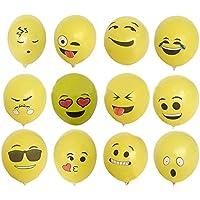MyMei 12インチ 絵文字 emoji 風船 絵文字 バルーン 笑顔 誕生日 お祝い 記念日 贈り物 パーティー飾り 文化祭 学園祭 面白いグッズ 飾り付け (ランダム表情100個セット)