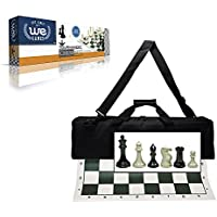 Wood Expressions Deluxe Tournament Chess Set with Canvas Bag and Triple Weighted Chessmen [並行輸入品]