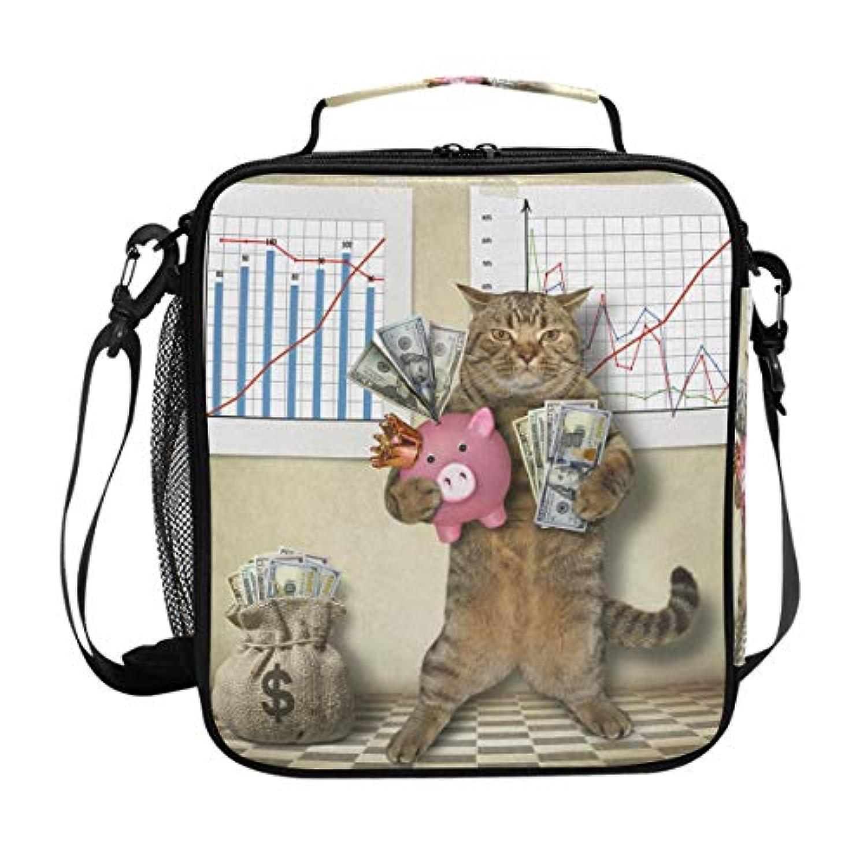 VAWA ランチバッグ お弁当バッグ 猫柄 保冷バッグ 保温 かわいい お弁当袋 大容量 弁当箱 ランチボック 防水 食品収納 通勤 通学 高校生 子供用 面白い