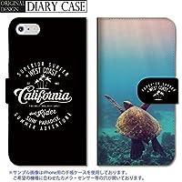 301-sanmaruichi- Galaxy S5 ケース Galaxy S5 カバー ギャラクシー S5 ケース 手帳型 おしゃれ ハワイ ロゴ ウミガメ クジラ メンズ A 手帳ケース SUMSUNG
