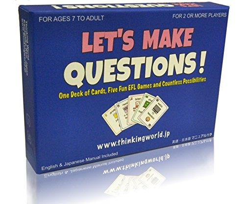 シンキング ワールド レッツ メイク クエスチョンズ!  【英会話 カード ゲーム 英語 学習 教材】 Thinking World Let's Make Questions!