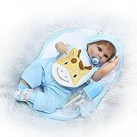 Reborn新生児ソフトビニールベビー人形シリコンBoy 16インチでリアルな子磁気おもちゃおしゃぶり