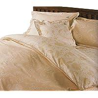 LANCETTI ジャカール ベッド用ボックスシーツ ダブルサイズ 140×200×30cm : ベージュ