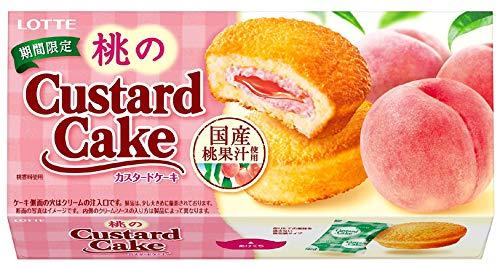 ロッテ 桃のカスタードケーキ 1セット 5箱